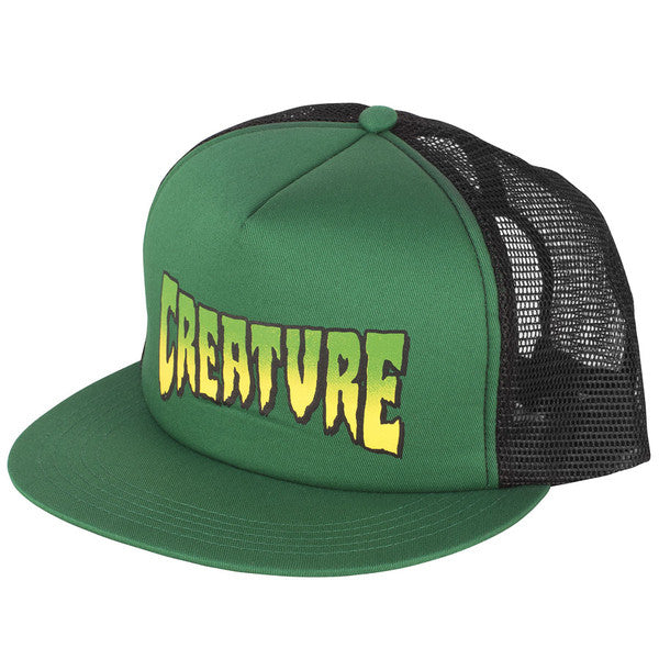 Creature Logo Trucker Mesh - Forest/Black - Men's Hat
