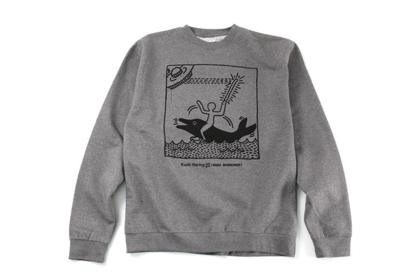 Alien Workshop UFO Dolphin - Heather Grey - Men's Sweatshirt