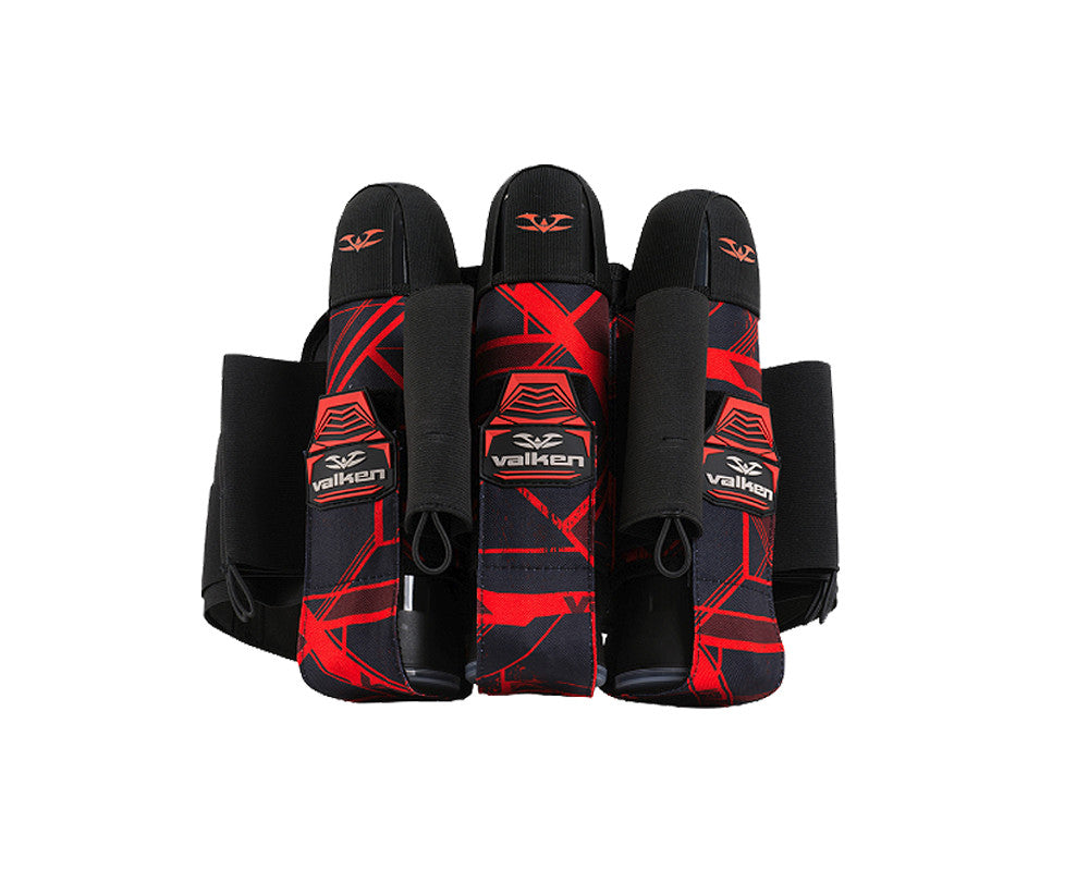 2014 Valken Crusade Paintball Harness 3+6 - Hatch Red