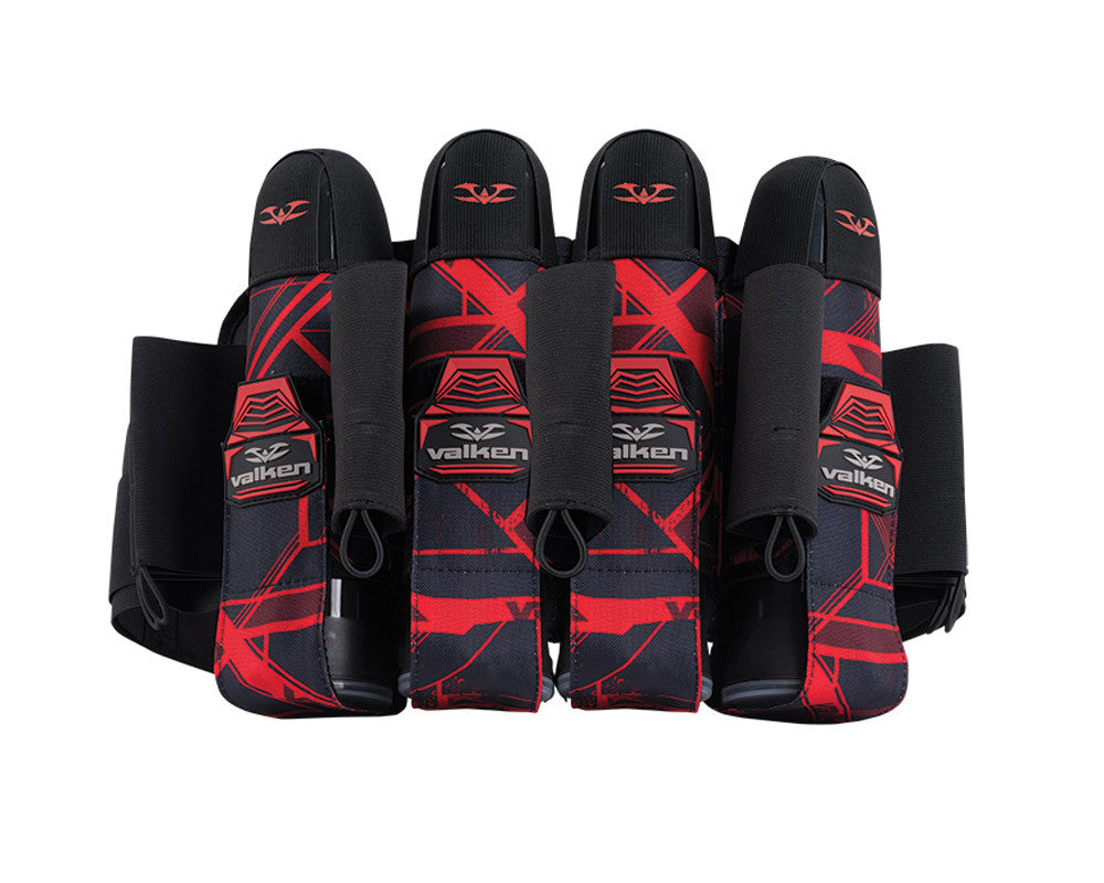 2014 Valken Crusade Paintball Harness 4+7 - Hatch Red