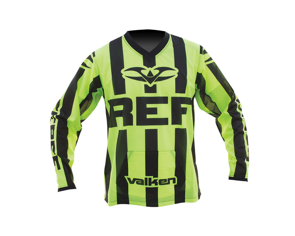 2014 Valken Long Sleeve Paintball Referee Jersey - Highlighter