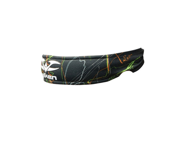 2012 Valken Crusade Paintball Headband - Static Green/Orange