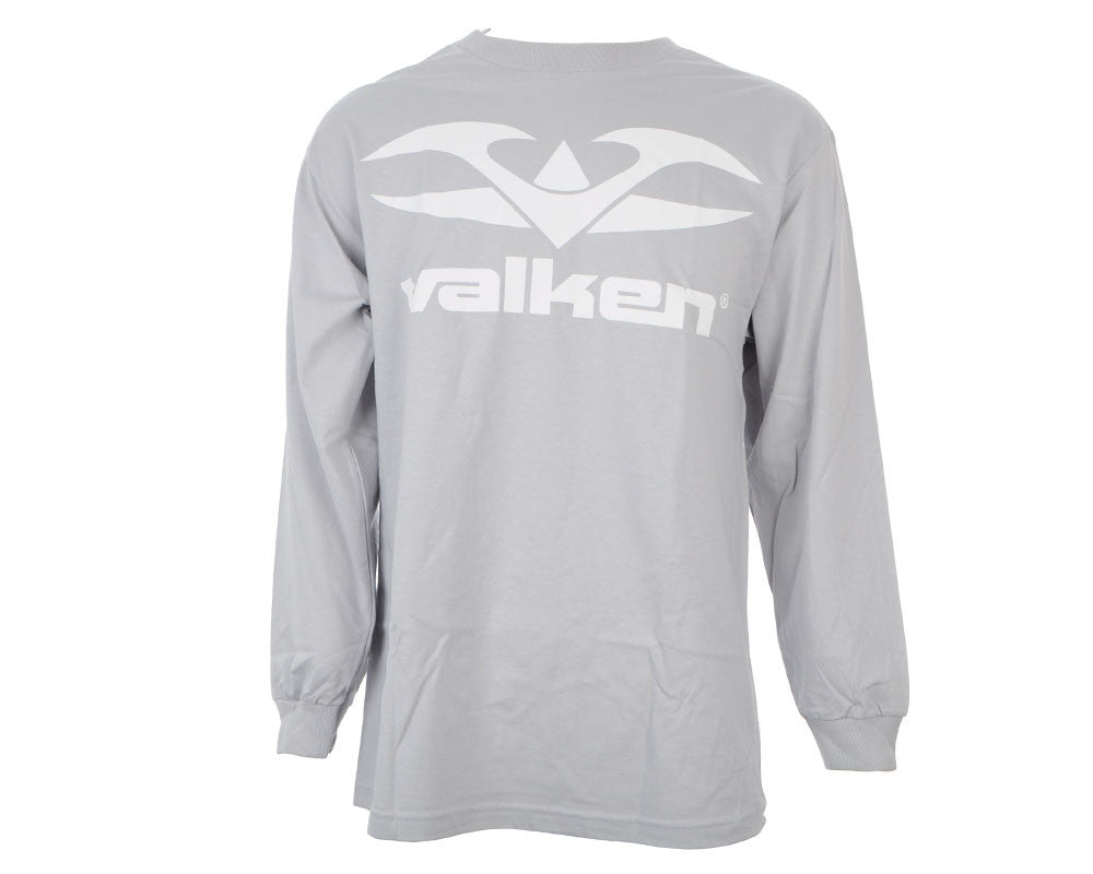 Valken Paintball Logo Long Sleeve T-Shirt - Silver