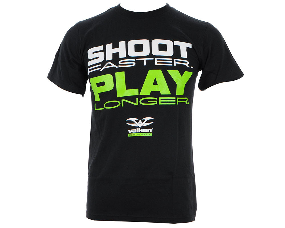 Valken Paintball Shoot Faster Play Longer T-Shirt - Black