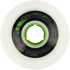 Venom Cannibal Green Core - White - 72mm 80a - Skateboard Wheels (Set of 4)