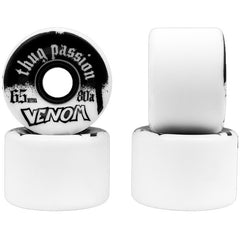 Venom Thug PASSIONS - White - 65mm 80a - Skateboard Wheels (Set of 4)