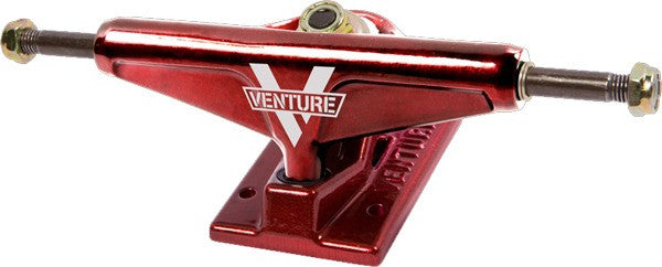 Venture High - Red/Red - 5.0in - Skateboard Trucks (Set of 2)