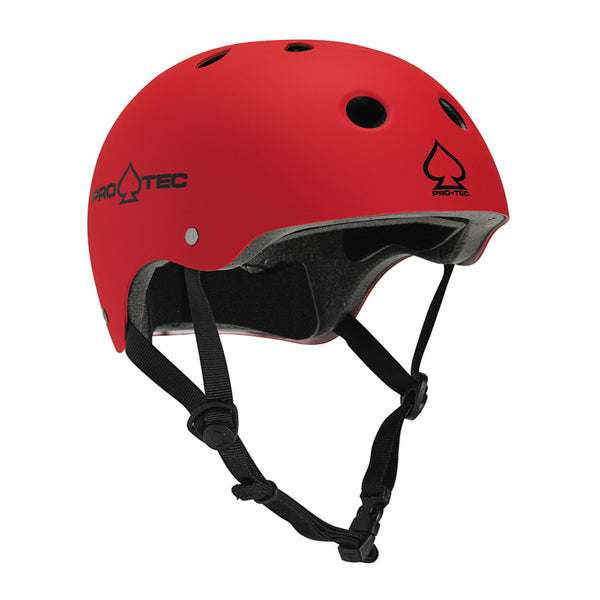 Pro-Tec The Classic Helmet - Matte Red - Skateboard Helmet