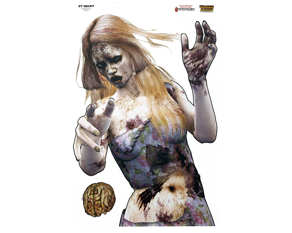 "23"" x 35"" Zombie Shooting Target - Becky - 3 Pack"