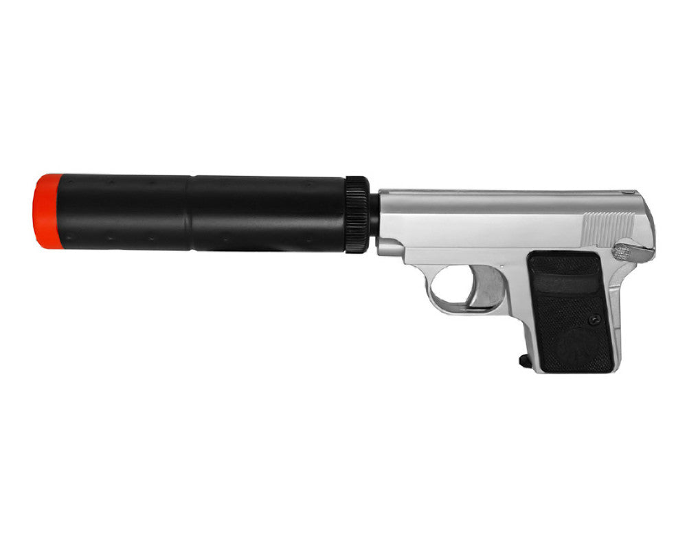 HG-107 Green Gas Airsoft Handgun - Silver
