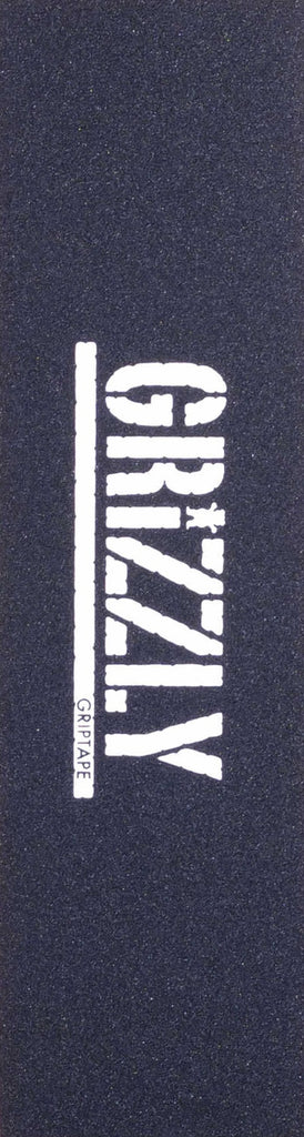 Grizzly Stamp White Print 9in x 33in - Skateboard Griptape (1 Sheet)