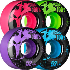 Bones O.G. Formula 100 Assorted - 52mm - Skateboard Wheels (Set of 4)