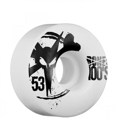 Bones O.G. 100 - White - 53mm 100a - Skateboard Wheels (Set of 4)