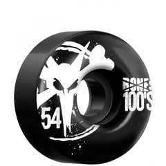 Bones O.G. 100's V4 - Black - 54mm - Skateboard Wheels (Set of 4)