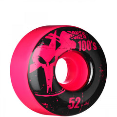 Bones O.G. 100 - Pink - 52mm 100a - Skateboard Wheels (Set of 4)