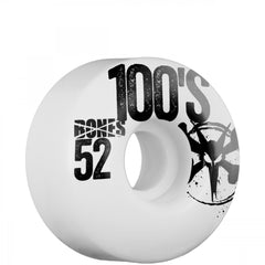 Bones O.G. 100 - White - 52mm 100a - Skateboard Wheels (Set of 4)