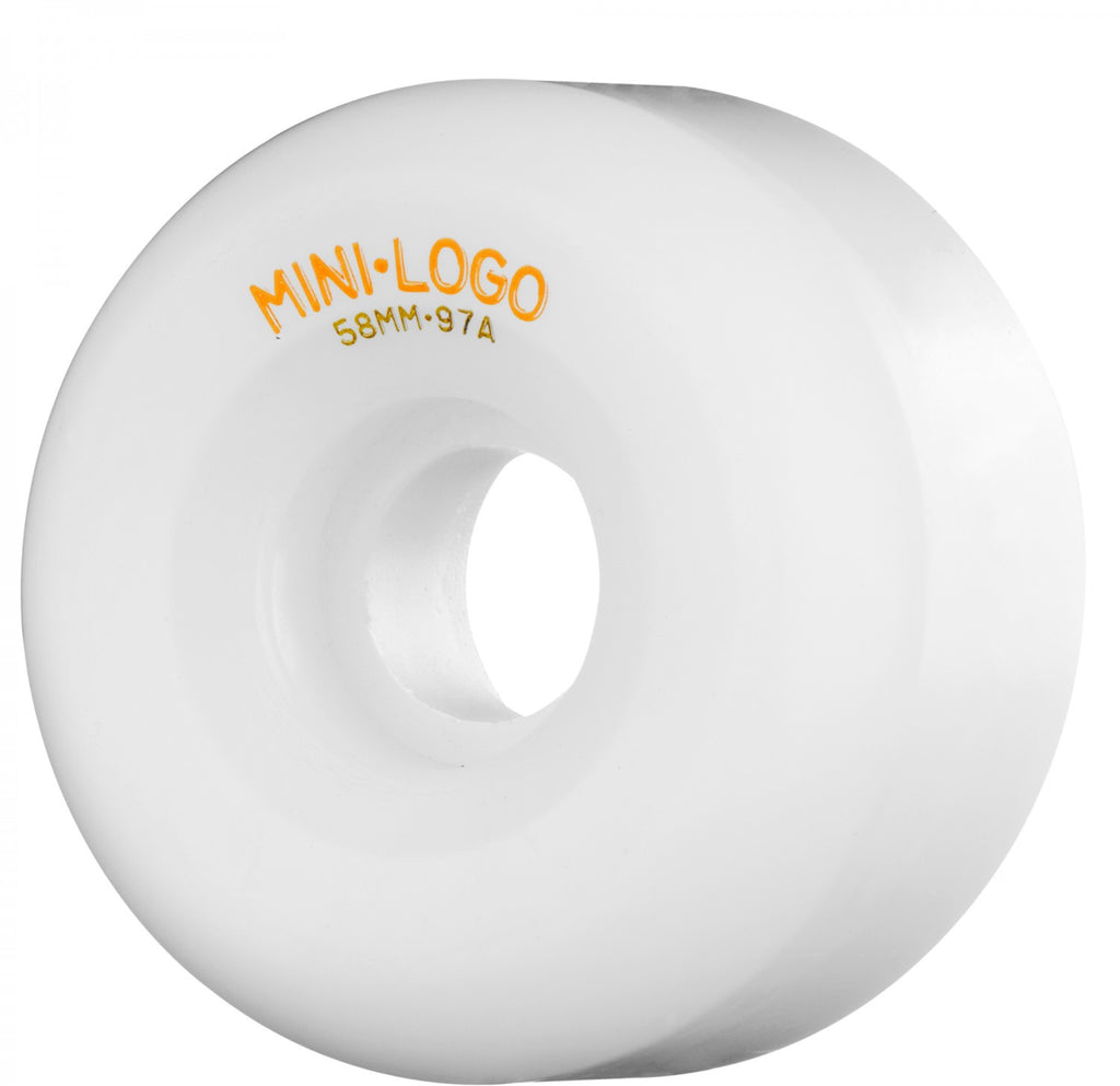 Mini Logo A-Cut - White - 58mm 97a - Skateboard Wheels (Set of 4)