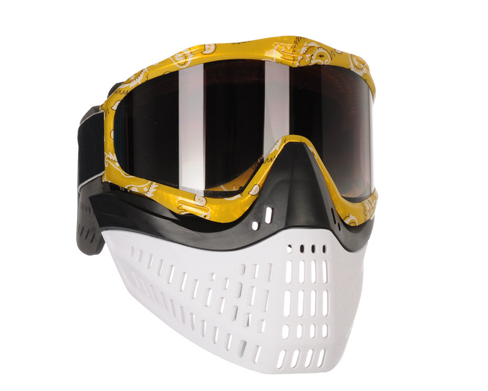 JT ProFlex Thermal Paintball Mask w/ Smoke Lens - Yellow Bandana w/ Black/White Bottoms