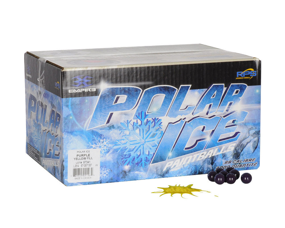 Empire Polar Ice Paintballs Case 500 Rounds - Yellow Fill