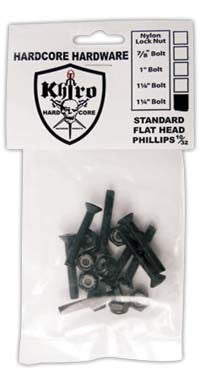 Khiro Hardcore Bolts Flathead - 1 1/4in - Skateboard Mounting Hardware
