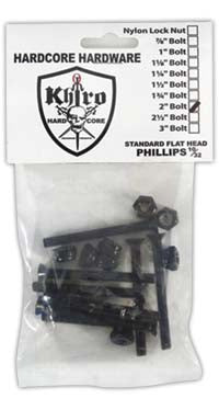 Khiro Hardcore Bolts Flathead - 2in - Skateboard Mounting Hardware