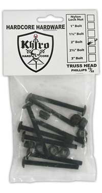 Khiro Hardcore Bolts Trusshead - 2in - Skateboard Mounting Hardware