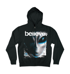 Alien Workshop Believe II Hoodie Full Zip - Black - Mens Sweatshirt