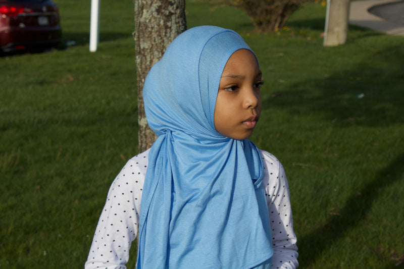 Baby Blue Light Weight Jersey Hijab