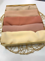 Luxury Chiffon Nudes Hijab Bundle