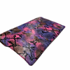 Purple Multicolor Snake Print Envelope Clutch