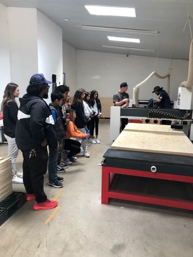CNC machine, operating, middle school tour, oc ramps,