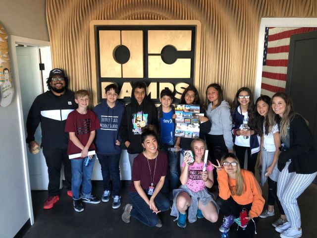 Youth, middle school, students, tour, education, oc ramps.