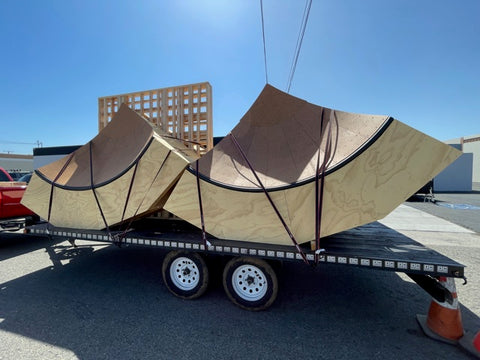 We loaded up all of the materials for the project, including the prefabricated bowl corners and headed out to the installation site on an early, Saturday morning.