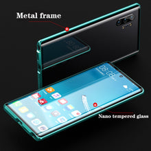 Load image into Gallery viewer, Galaxy Note 10/10 Plus electronic Auto Fit (Front+Back) Glass Magnetic Case