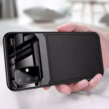 Load image into Gallery viewer, Galaxy S20 Plus Sleek Slim Leather Glass Case