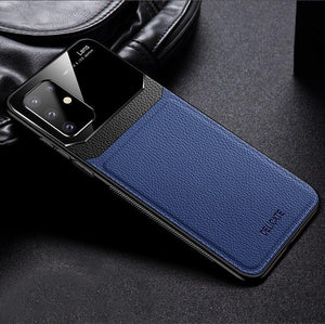 Galaxy S20 Plus Sleek Slim Leather Glass Case