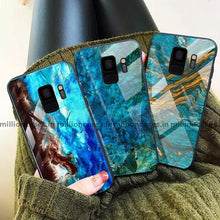 Load image into Gallery viewer, Galaxy S9 Soothing Sea Pattern Marble Glass Back Case