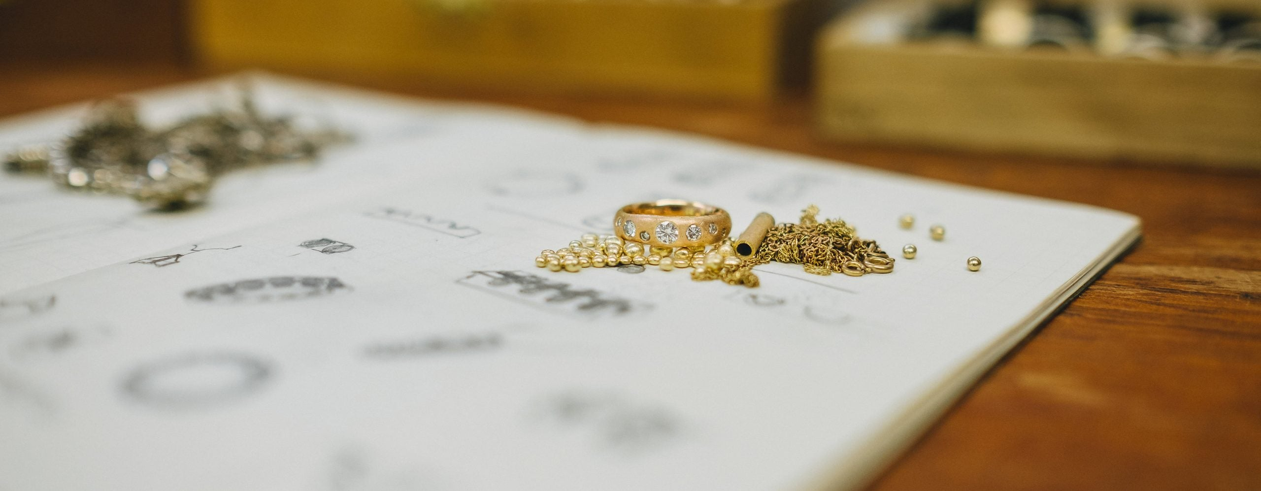 wedding ring made from heirloom gold