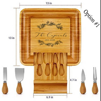 Personalized, Lase Engraved Cheese Board