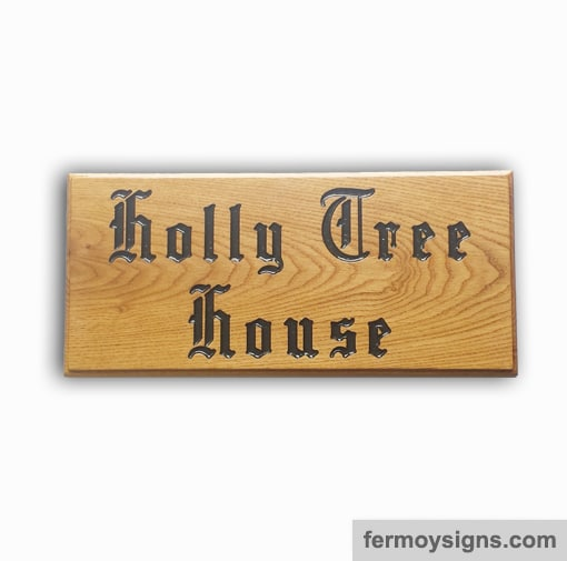AH5L Oak House Sign