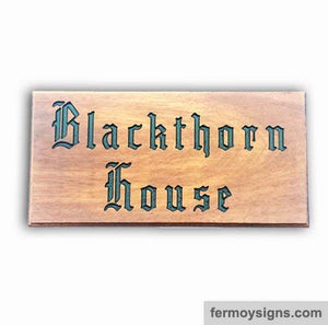 AH5L Teak House Sign
