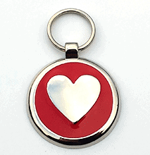 Large Red Heart Pet Tag