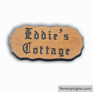 A3L Oak House Sign