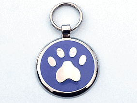 Purple paw tag