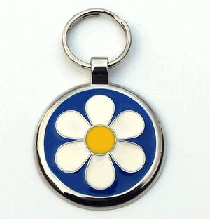 Small Blue Daisy Pet Tag 25mm