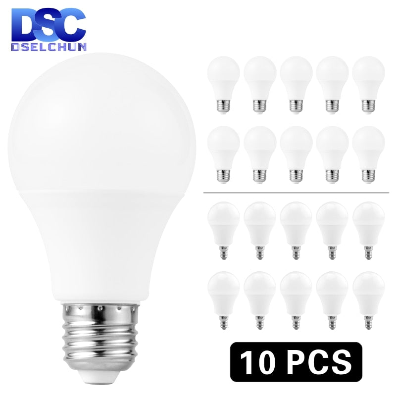 10pcs pack of E27 E14 LED Bulb Lamps Cold and Warm Variants