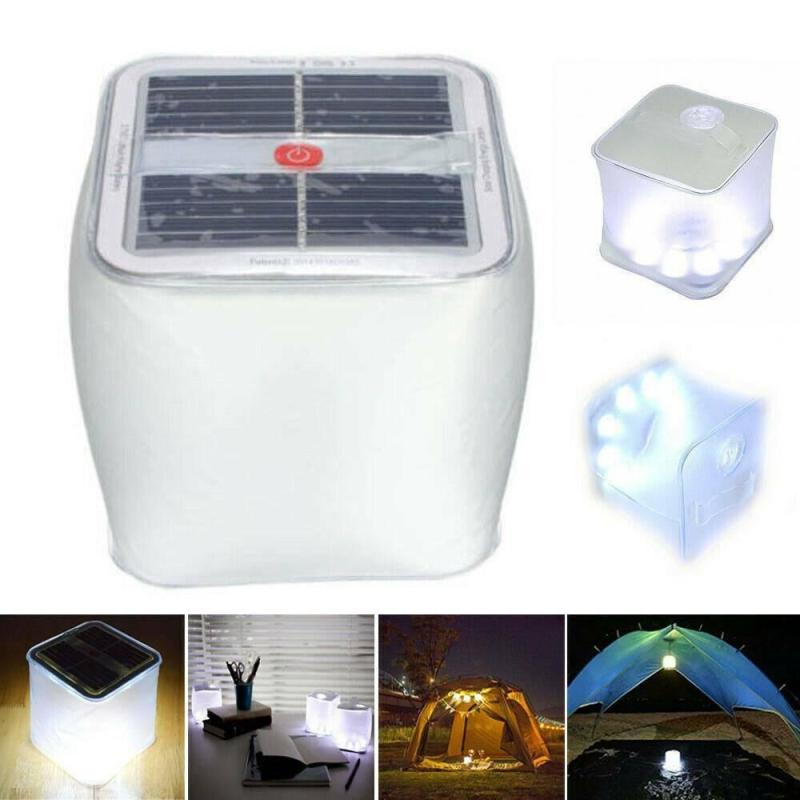 Revolutionary Inflatable Foldable LED Solar Powered Lamp For Camping Outdoor Emergency