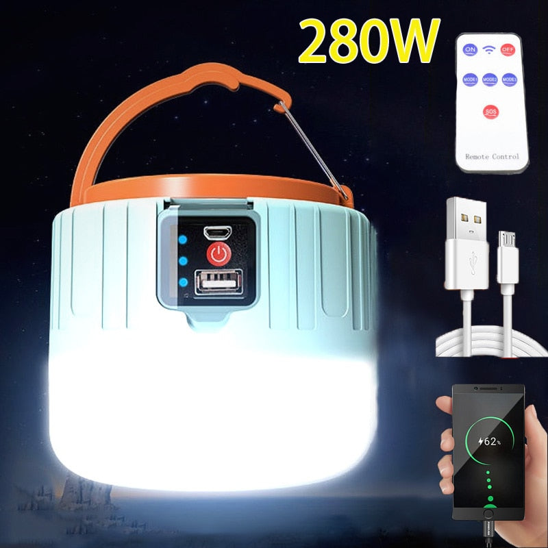 LED Camping Light USB Portable Phone Charging Camping Lantern Rechargeable Waterproof Great For Outdoor Hiking Fishing