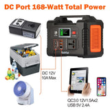 220V 200W Solar Generator Battery Charger FlashFish 40800mAh Portable Power Station