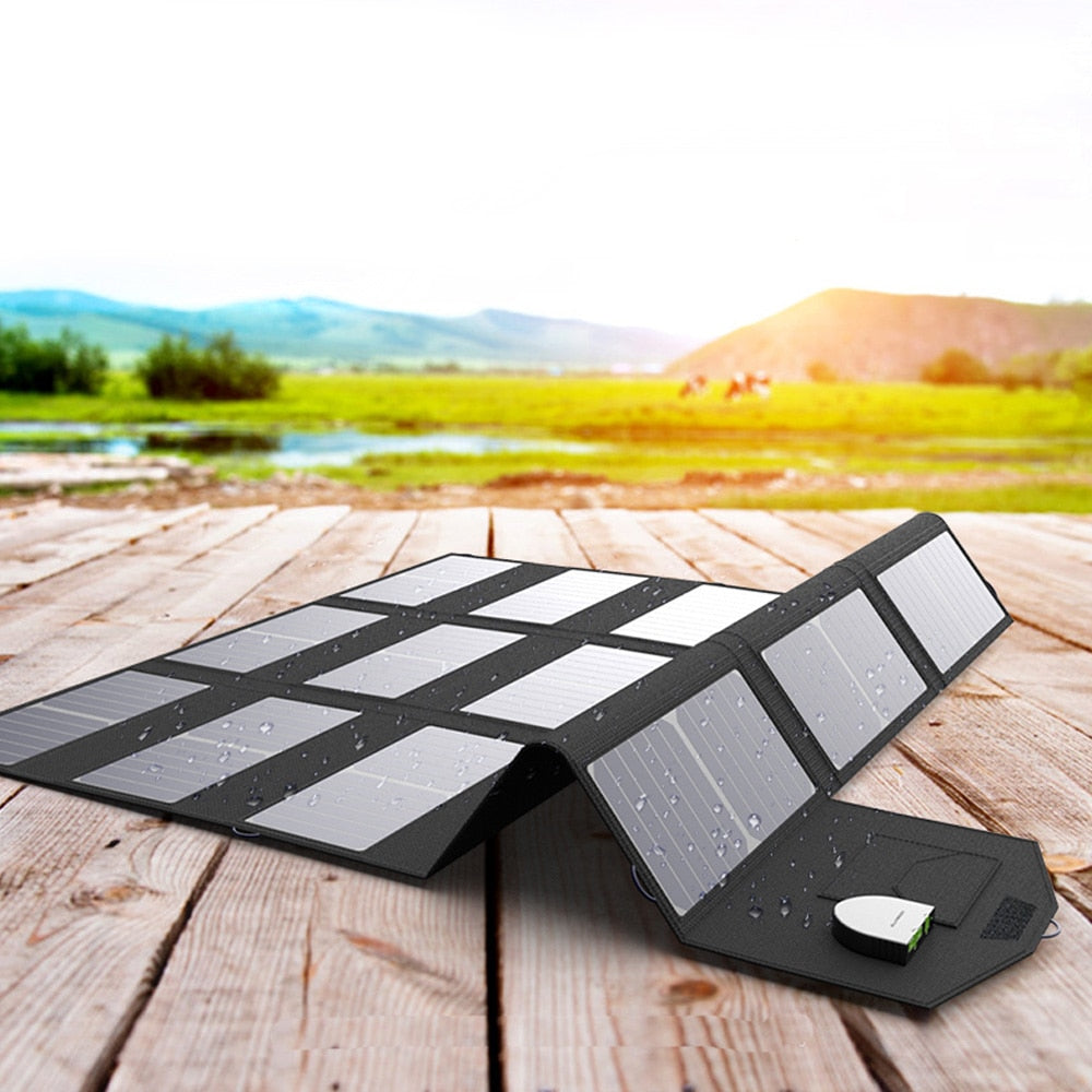 ALLPOWERS X-DRAGON 100W Folding Solar Panel 5V 12V 18V Versions For Charging iPhone iPad Macbook Samsung